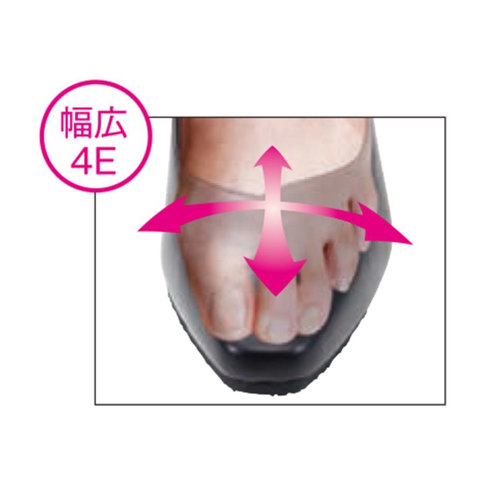 Conscious walk/コンシャスウォーク コンフォートレザーパンプス 指先が痛くなりにくいゆったり4E設計