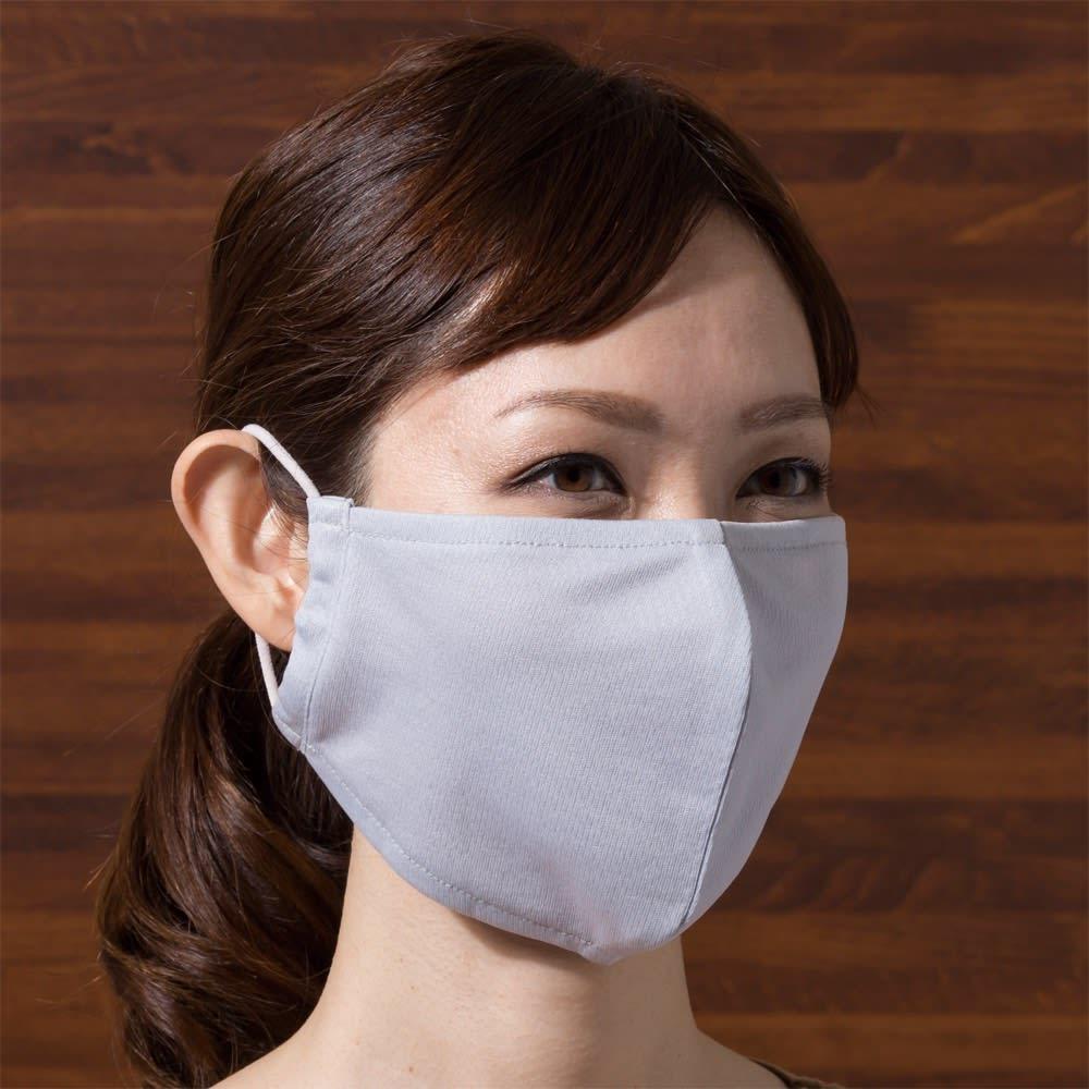 放熱 吸汗速乾 ムレにくいUVマスク 同色4枚 ニショクグミ 【通販】