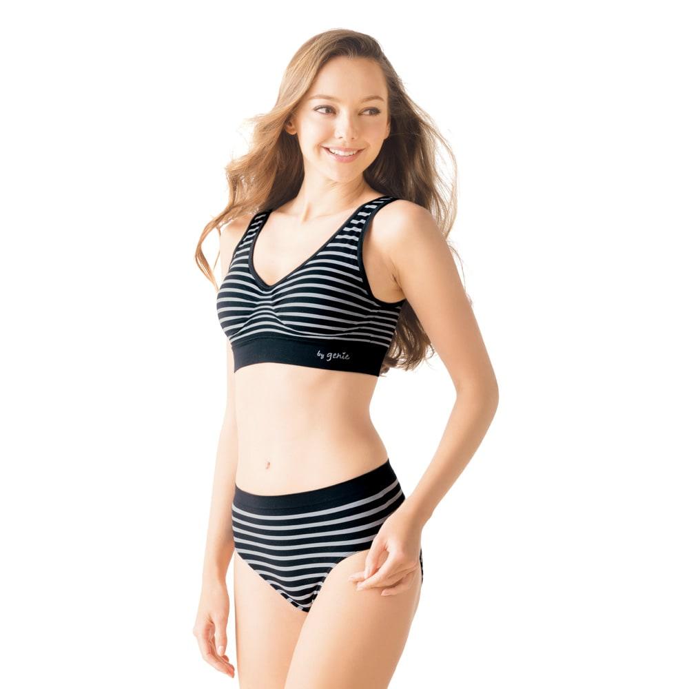 デザインジニエシリーズ デザインジニエショーツ3枚組 着用イメージ ※ブラジャーは商品に含まれません。