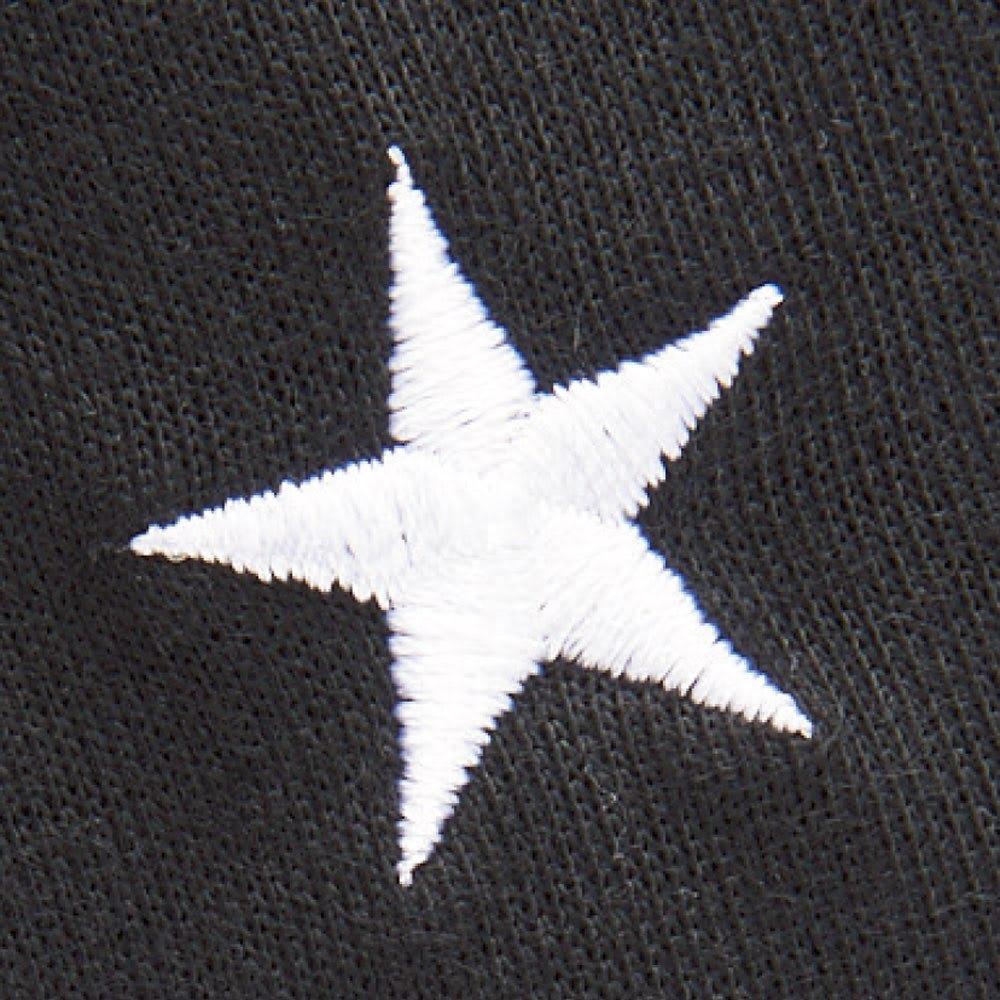 CONVERSE/コンバース ホームウエア リラックス 上下セット セットアップ、ワンピともに星のマークとブランドロゴの刺繍がアクセントに。