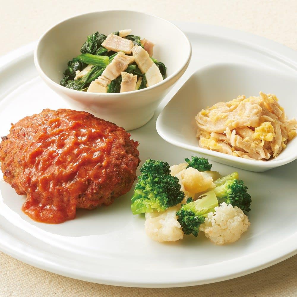 ライザップ低糖質 おかず14食セット 【トマトソースハンバーグ】盛り付け例