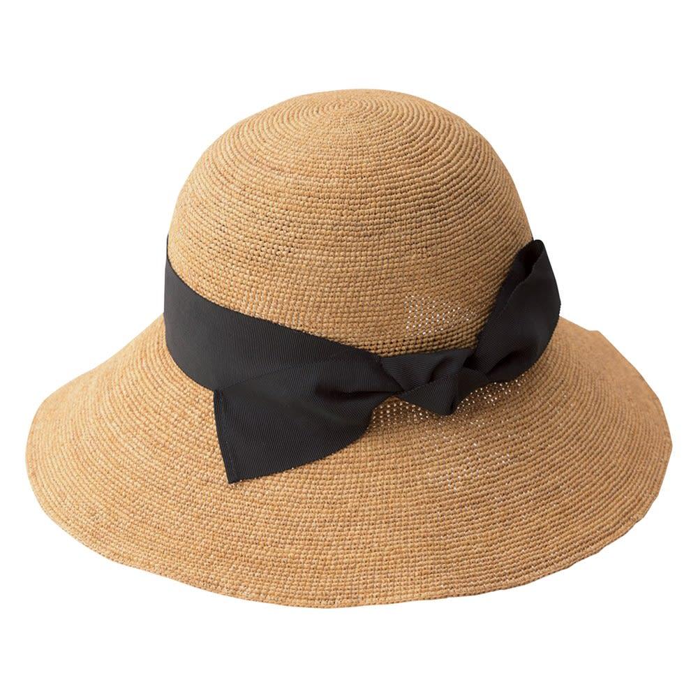 ESTHAT ラフィア帽 クロッシュタイプのデザインなので首元を隠せるから日よけ効果大!