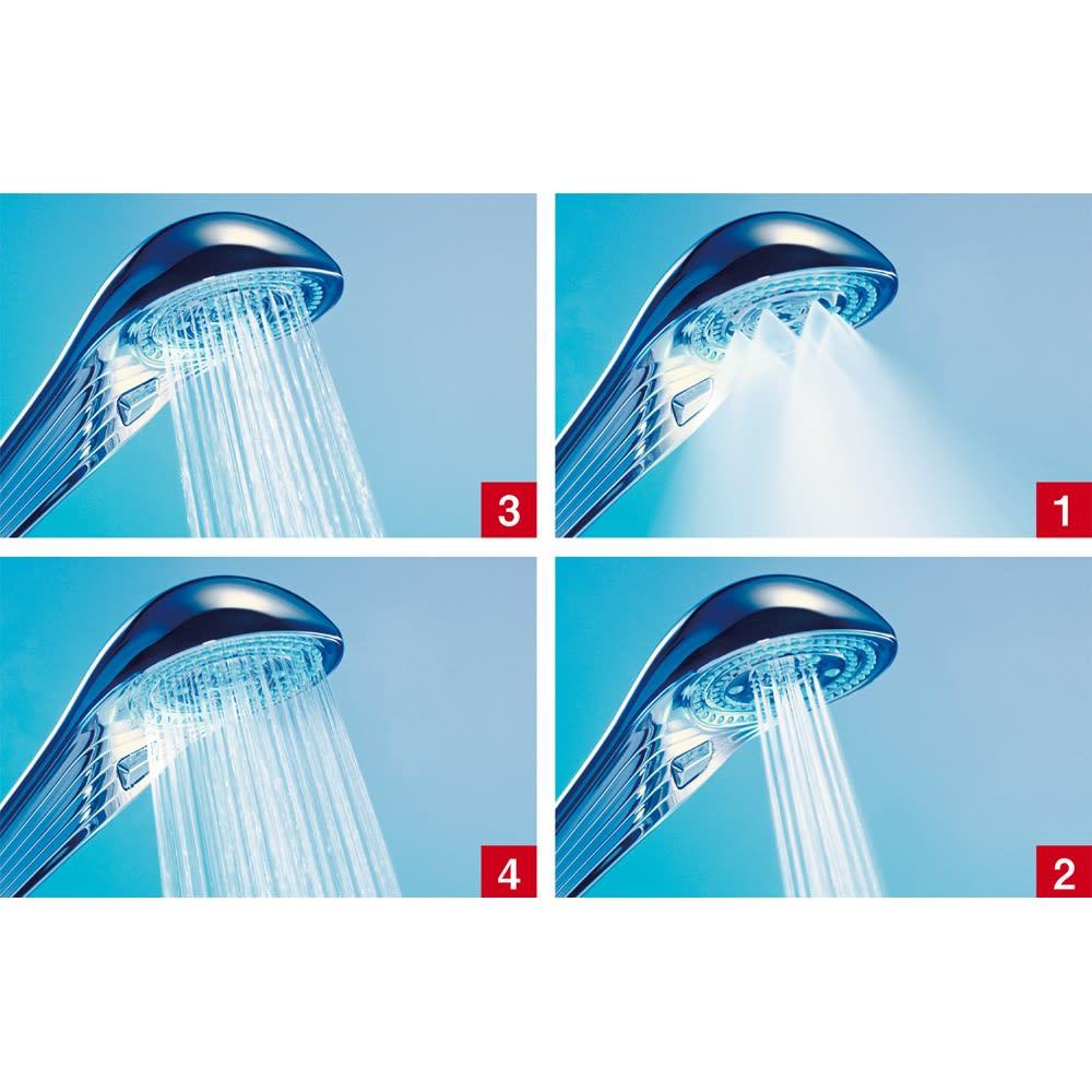 ReFa/リファ ファインバブルS 4種類の水流がセレクト可能。(1)ミスト (2)ジェット (3)ストレート (4)パワーストレート
