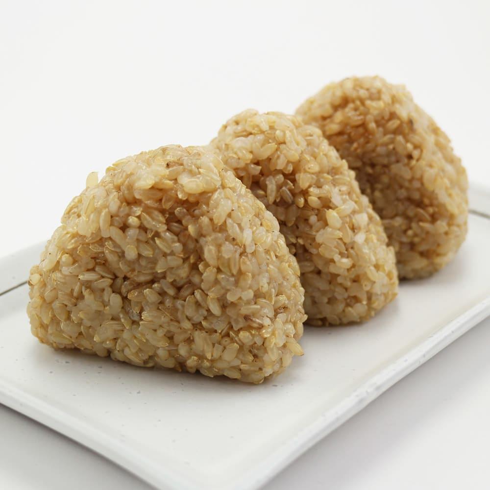 長兵衛玄米 (1kg×3袋) 調理例:おにぎり