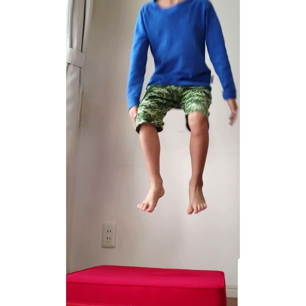 パーフェクトエクサ(R) 衝撃吸収が良いので、遊び感覚で飛び跳ねることも可能 かなり体幹を使います ※転倒には充分ご注意ください
