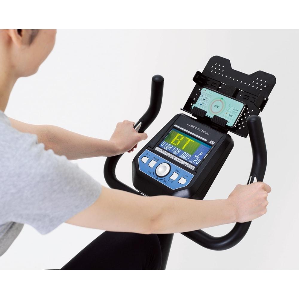 アルインコ/ALINCO プログラムバイク AFB6319 ハンドル部のグリップセンサーで常に心拍数を確認