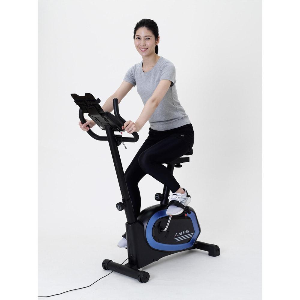 アルインコ/ALINCO プログラムバイク AFB6319 運動後1分間でどの程度心拍数が平常に戻ったかを評価する体力評価ボタン搭載。その日の体調チェックにも役立ちます。