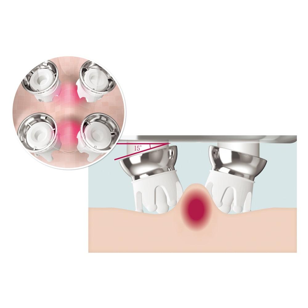 ReFa/リファ リファグレイス ヘッドスパ 美しさへの3つの個性 エステティックメソッドで美に結果あり! 4つのヘッドの構造と動きにこだわり、エステティシャンの親指の動きを応用。頭皮を心地良くつまみ上げます。