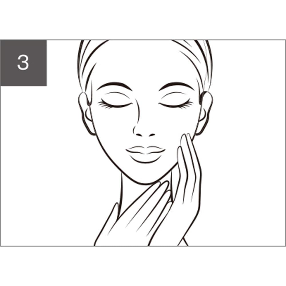 メディリフト メディリフト ネックシートマスク(5枚入り) 10分~15分後にシートを外し、お肌に残った美容液は手のひらでマッサージしながらなじませてください。