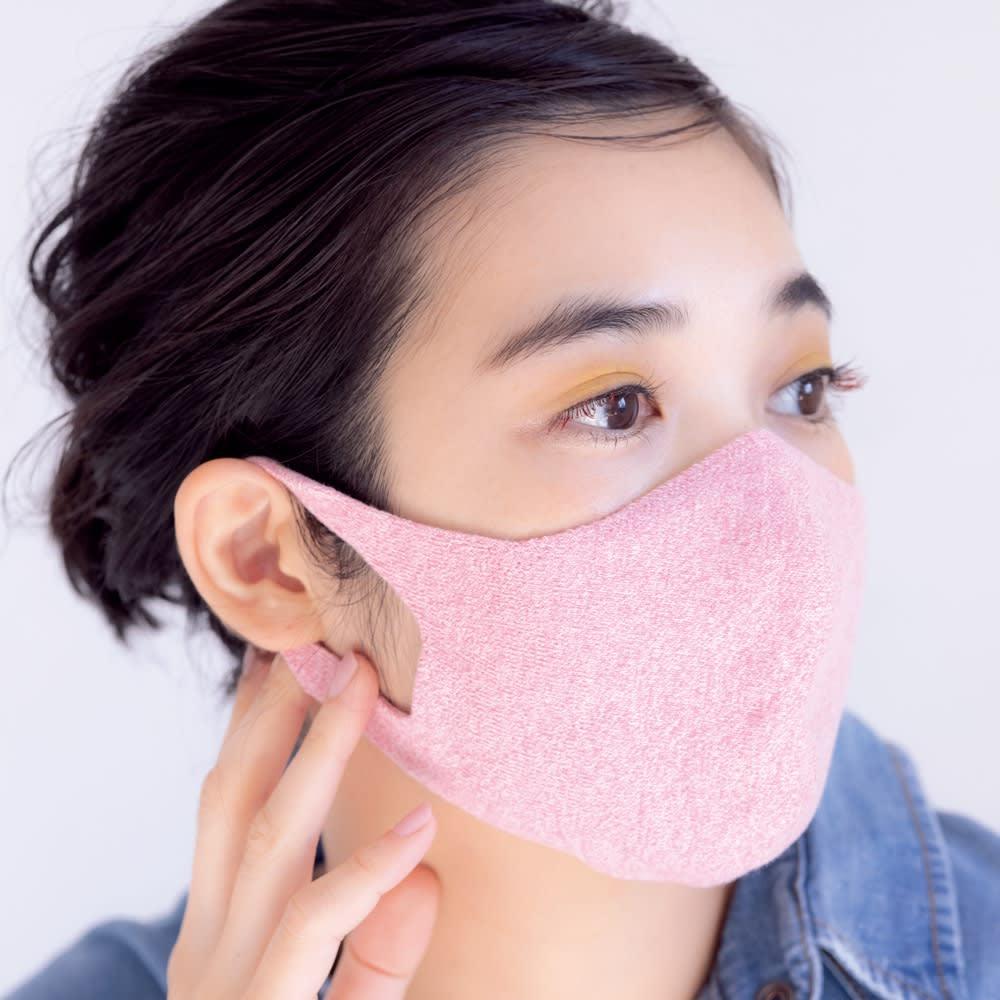 With Mask/ウィズマスク ニットフィット 選べる2枚組 (ウ)ピンクコーディネート例