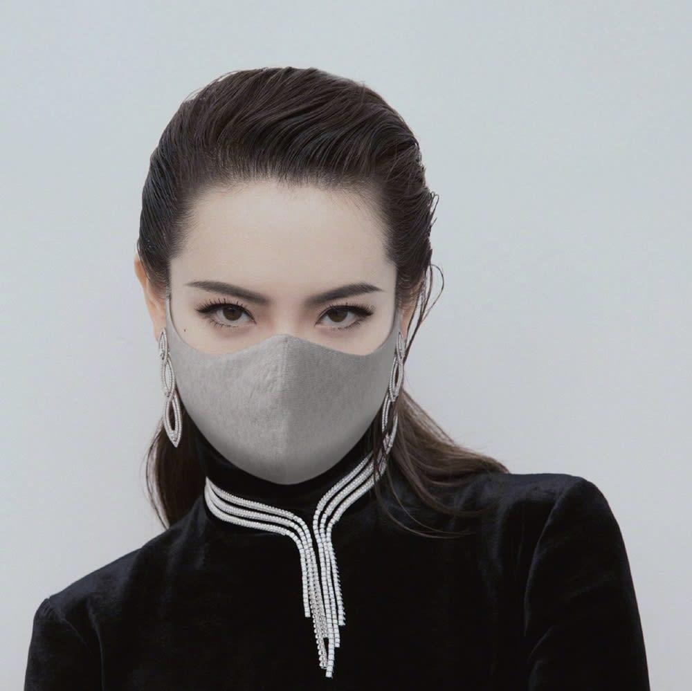 With Mask/ウィズマスク ニットフィット 選べる2枚組 (ア)グレー コーディネート例
