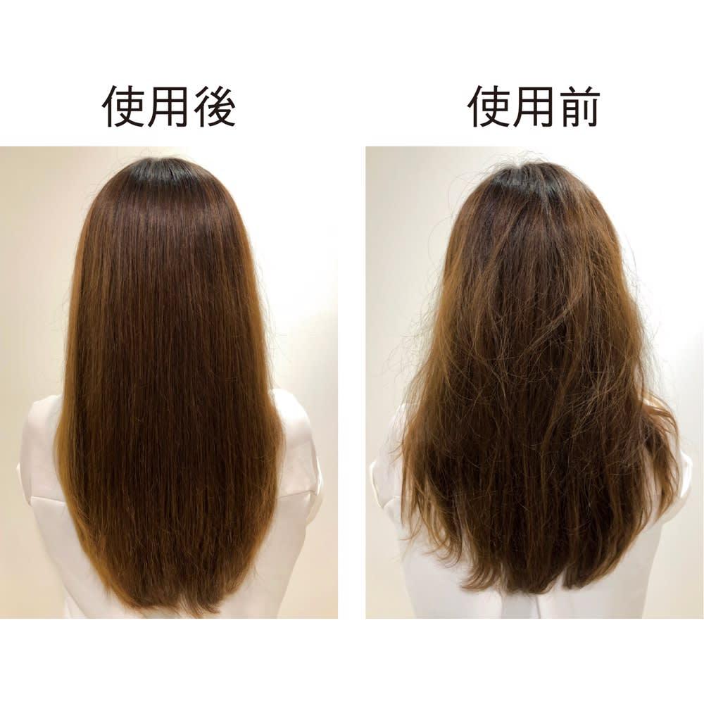 ラブクロム PG テツキ プレミアムブラック 静電気を拡散し枝毛を予防 特殊加工によって、静電気を吸着し拡散。静電気による髪の広がりを抑え、サラサラの髪に。静電気の放電による、枝毛の発生も予防します。