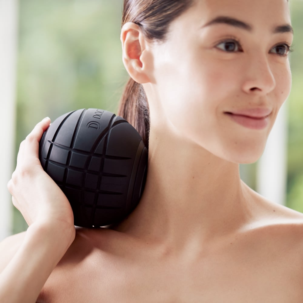 DOCTOR AIR/ドクターエア 3Dコンディショニングボール ブラック フィットネス器具