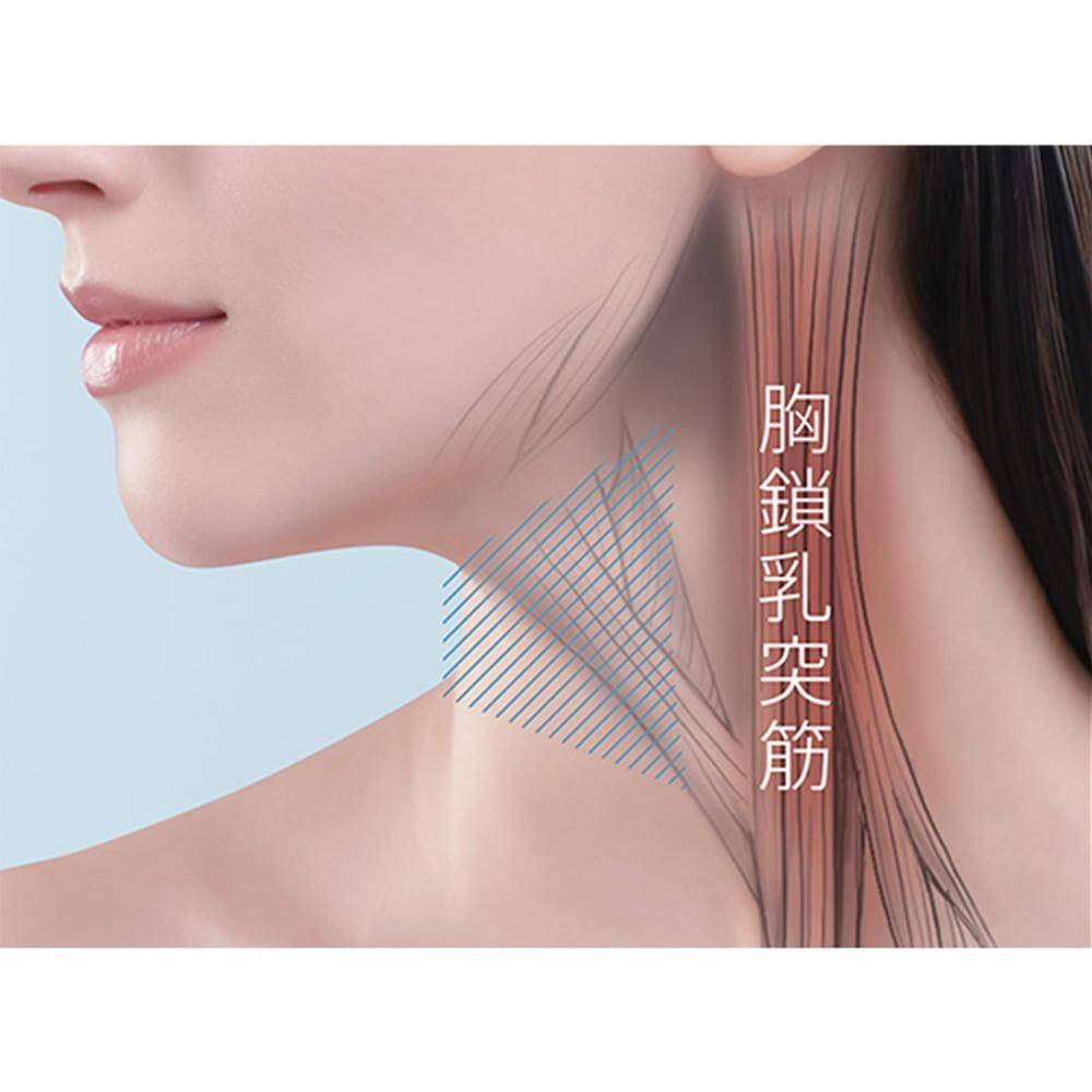"""メディリフト ネック(首もと専用美容器)│YA-MAN│EPN-10B 美しい顔立ちのポイントである、""""胸鎖乳突筋(きょうさにゅうとつきん)""""にアプローチ(※画像はイメージです)"""
