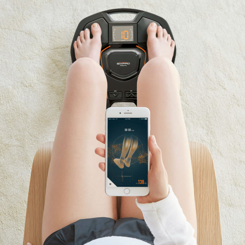 【送料無料】SIXPAD/シックスパッド Foot Fit(フットフィット) アプリで成果が見えるから楽しい&続けられる! 筋トレは、日々の継続こそが鍵。スマートフォンのアプリと連動することで、トレーニングを可視化。モチベーションの維持で、さらなる成果につながります。