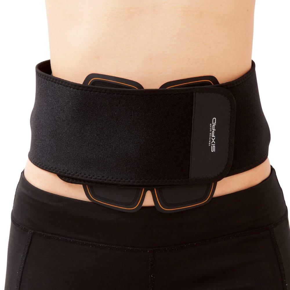 【送料無料】SIXPAD/シックスパッド Abs Fit2+Body Fit2×2 専用ベルトでホールド 付けたまま外出する時は剥がれ落ちないよう、専用のサポ―トベルトでホールドするのがおすすめ。