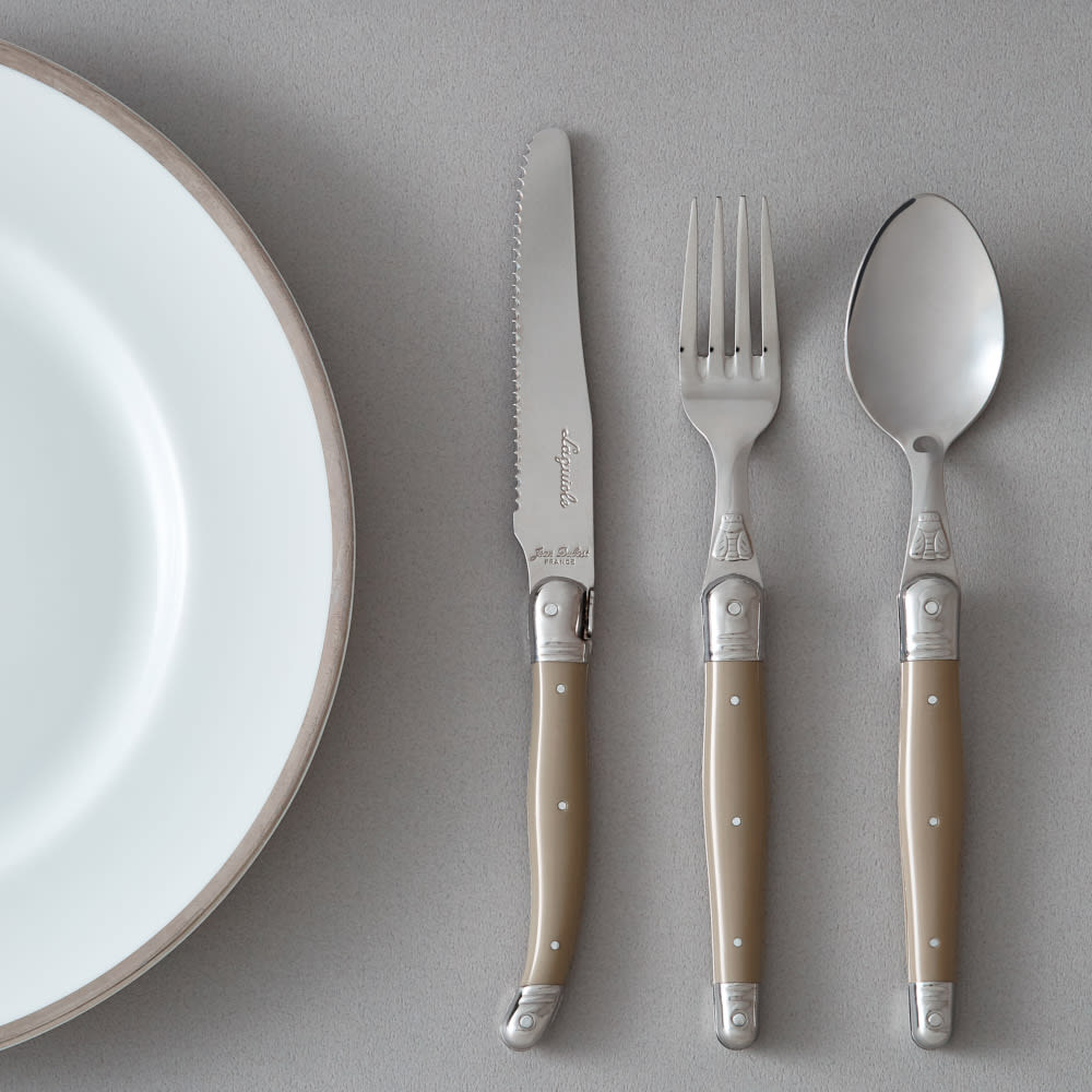 ジャンデュポ ライヨール ナイフ&フォーク&スプーン 3本セット (イ)カフェオレ