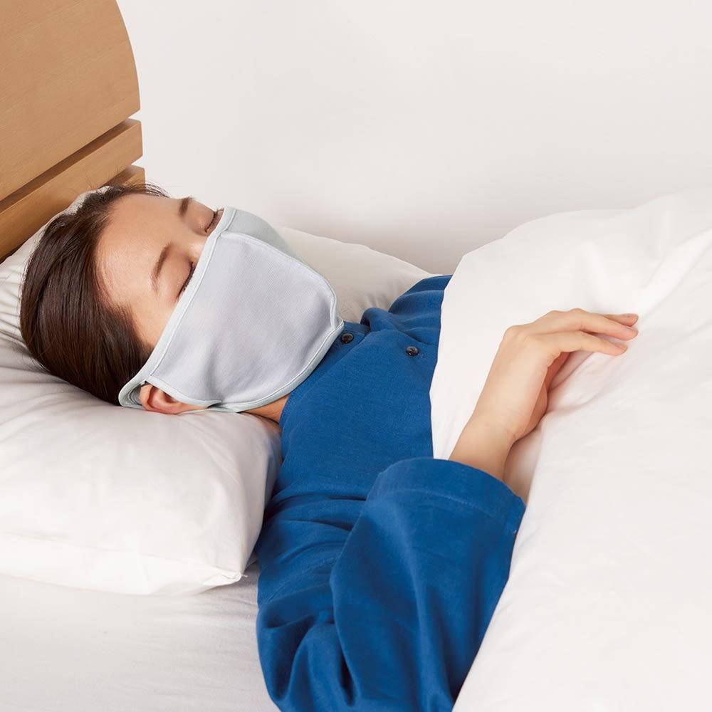 肌側がシルクのおやすみマスク3枚組 (ウ)グレー3枚