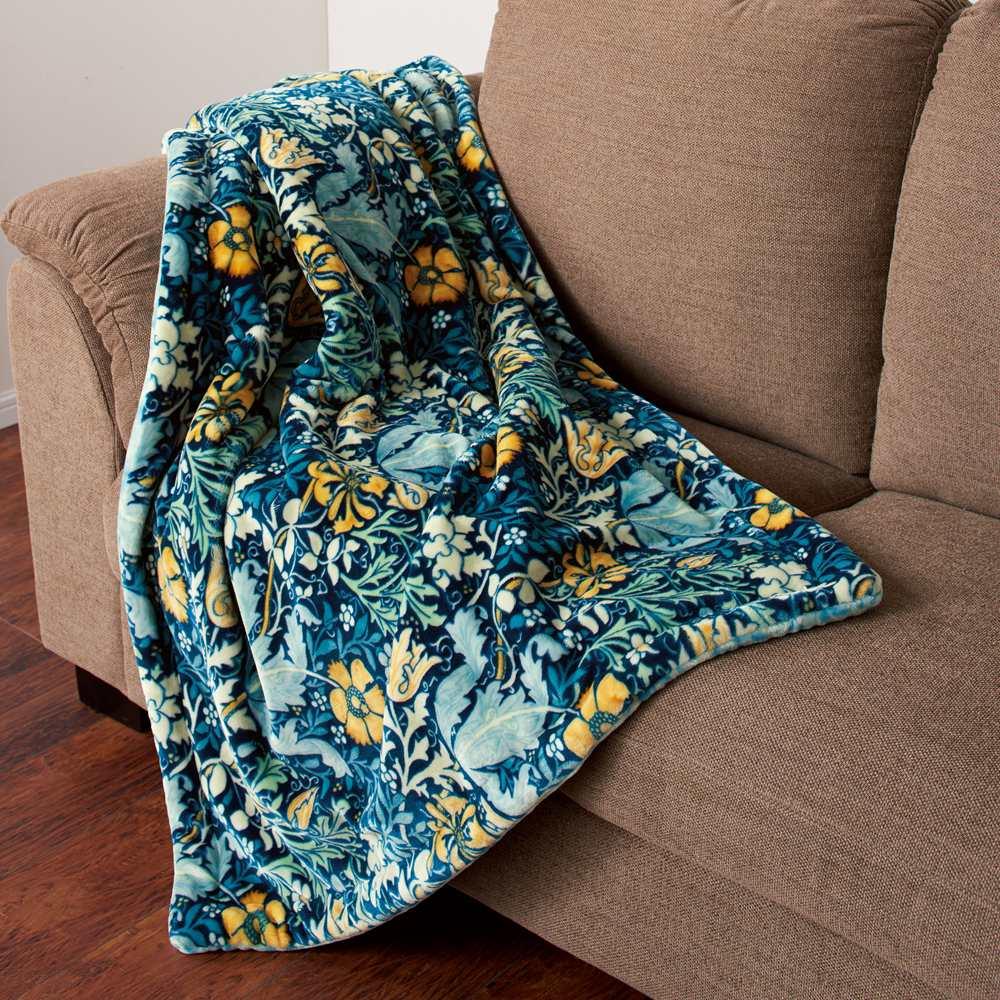 ハーフケット(モリスギャラリー リバーシブル毛布〈コンプトン〉) 717606