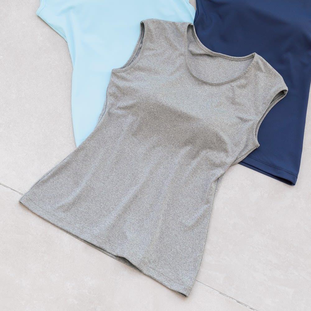 カップ付きフレンチTシャツ 1枚 (ウ)グレー杢
