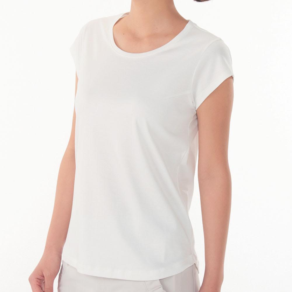 シルクコラーゲン加工スーピマ綿フレンチTシャツ シルクに含まれる保湿成分「セリシン」を綿の糸に付着させたシルクコラーゲン加工。洗濯しても効果が続きます。