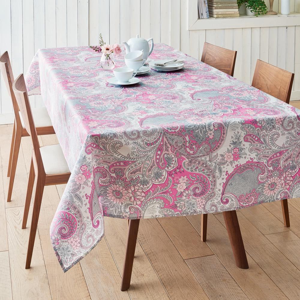 はっ水加工のクロスシリーズ テーブルクロス 150×150 (ウ)ピンク
