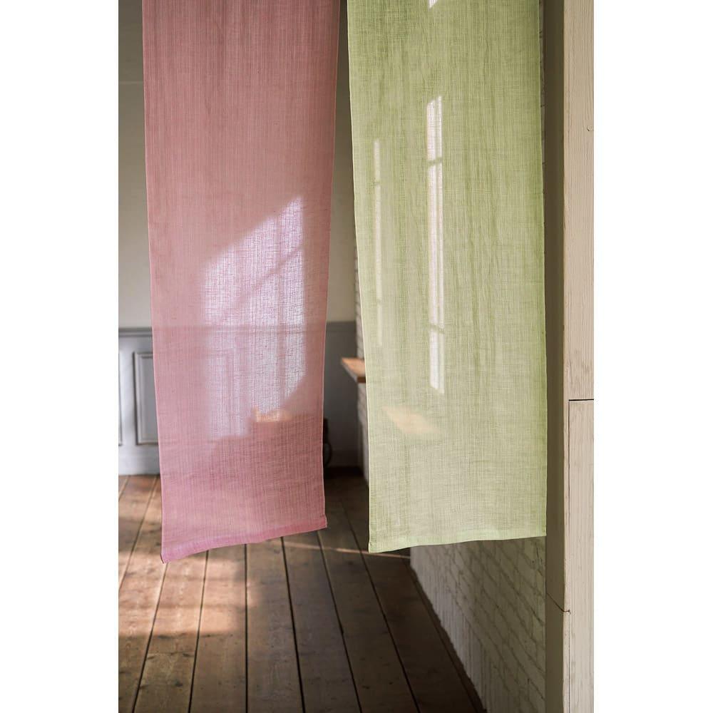 京都のはごろものれん(1枚) 左から(イ)グレイッシュピンク (ウ)モスグリーン