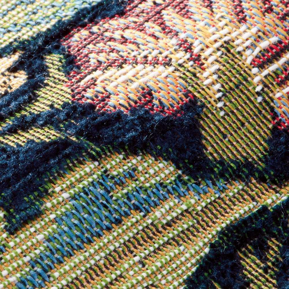 ベルギー製モリスデザインスタジオ ゴブラン織マット〈レスターアカンサス〉 素材アップ