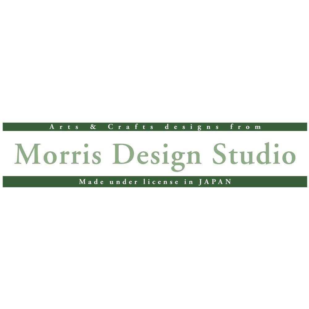 モリス柄モチーフのれん 「川島織物セルコン」は、モリスのデザインを引き継いだ英国サンダーソン(現ウォーカー・グリーンバンク社)のライセンスのもと、そのデザインを織物で表現し、「Morris Desigh Studio」のブランド名で展開しています。