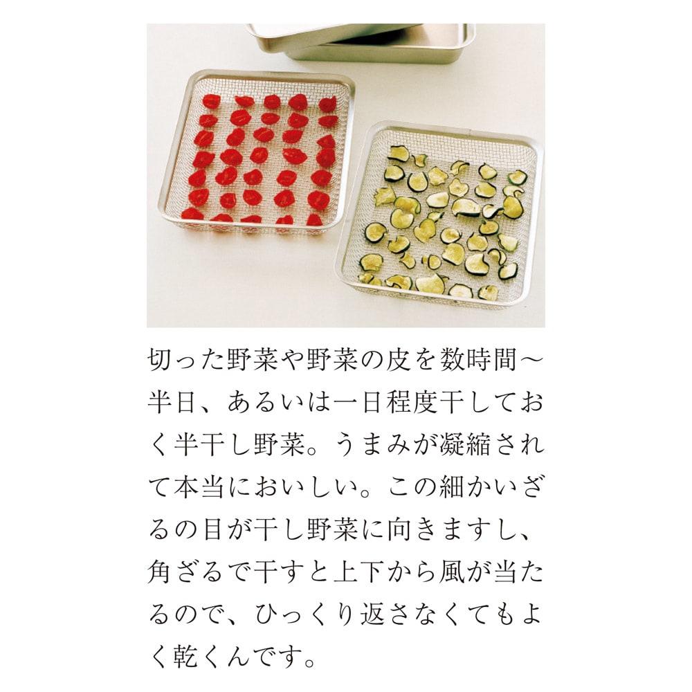 有元葉子のラバーゼ 角バットセット 角バット+角ざる 2枚セット 角ざるで干し野菜を作る