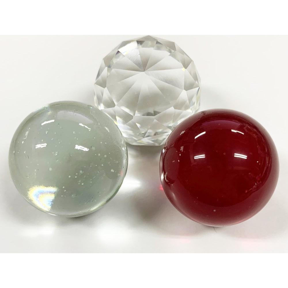 グローワイド スタンドライト 「フォンターナ」 ガラスボール3種(透明・ミラー・レッド)は本体ホワイトのみに付属いたします。