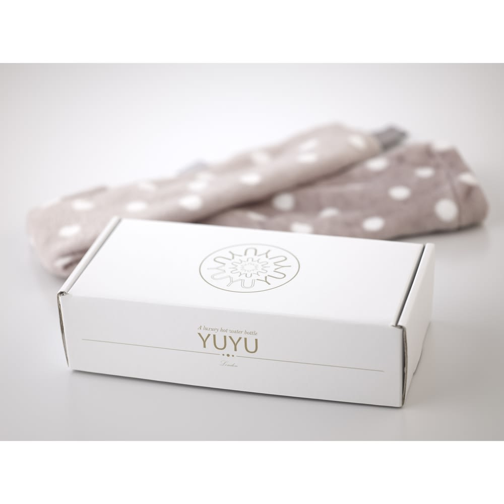 YUYU BOTTLE/ユーユーボトル 湯たんぽフリースカバー ギフトボックスに入っています