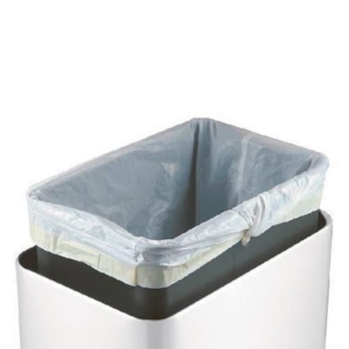 横型タッチビン(ホワイト) インナーボックスはゴミ袋がはみでない設計で、デザインを損ないません。