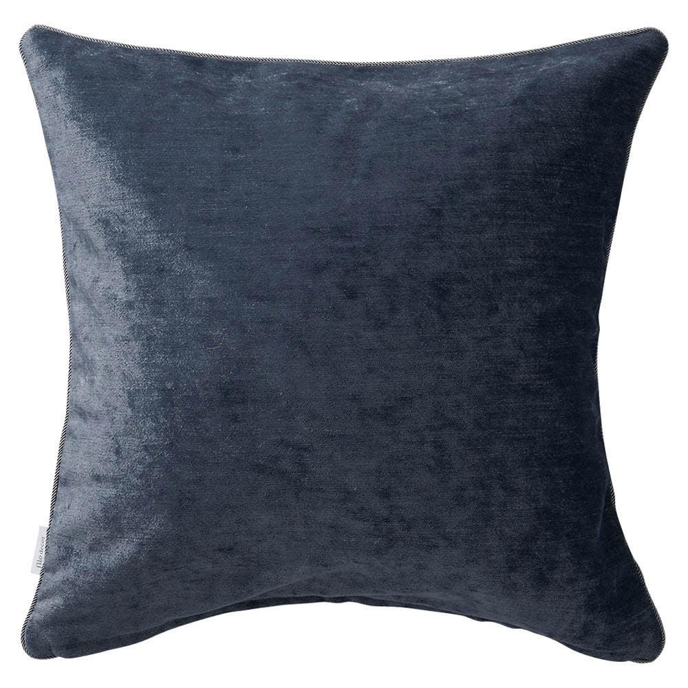 トルコ製生地使用 シンプルクッションカバー 45×45cm用 (エ)ダークブルー