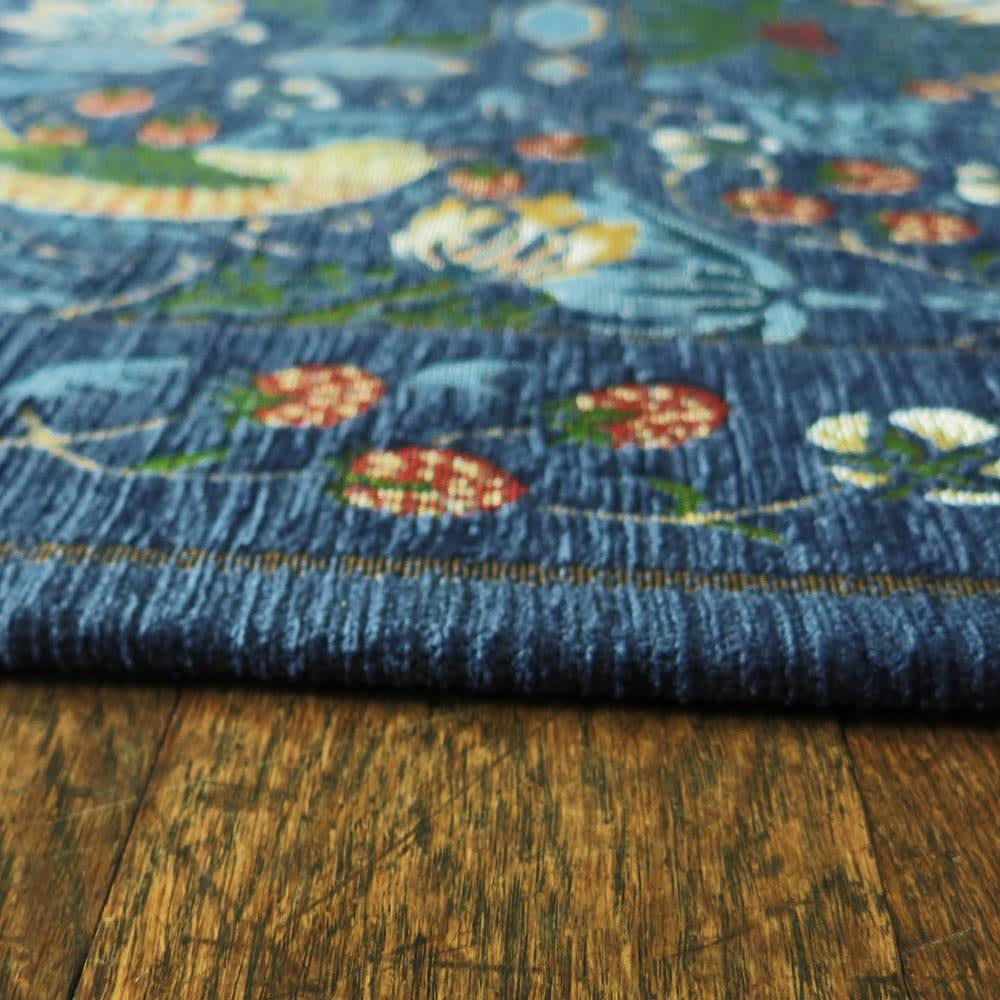 ベルギー製モリスゴブラン織マット〈いちご泥棒〉
