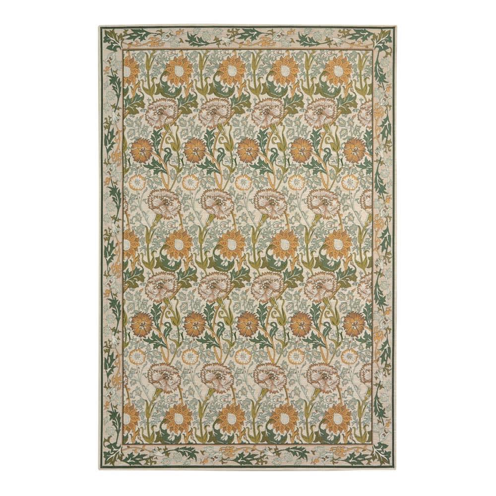 ベルギー製モリス ゴブラン織ラグ〈ピンク&ローズ〉 (イ)イエロー系 ※写真は140×200cmタイプです。