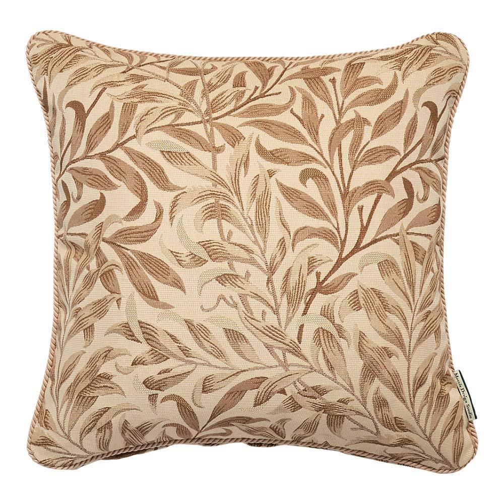モリス ジャカード織 クッションカバー 〈 ウィローボウ 〉60×60cm用 (イ)ベージュ系 ※画像は45×45cm用です。