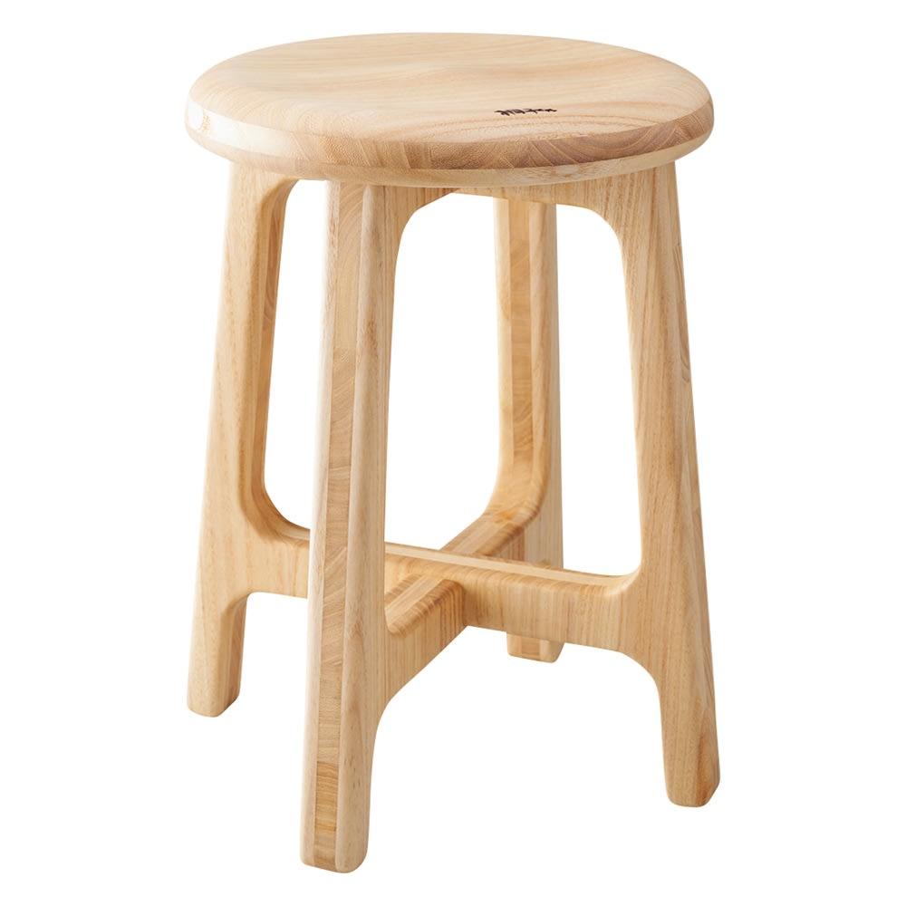 家具 収納 イス チェア スツール 高さ(座部高)45cm・重さ1.65kg(桐のスツール) 519005