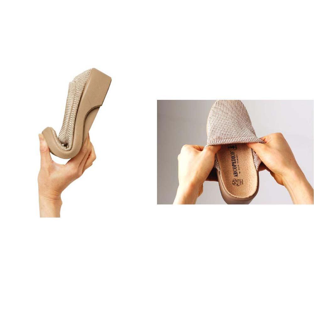 ARCOPEDICO/アルコペディコ メッシュシューズ ステップス 靴の先が折り曲げられるほどしなやかでかえりがよく、歩きやすい。