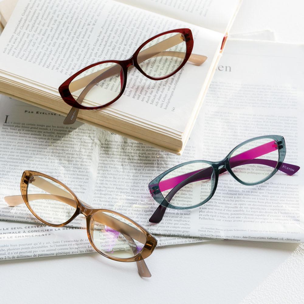 FILSTON/フィルストン プレミアムリーダー レディース ダークレッドXブラウン/ブラウンXブラウン/グレーXパープル ドナシ~4.0 サングラス・眼鏡