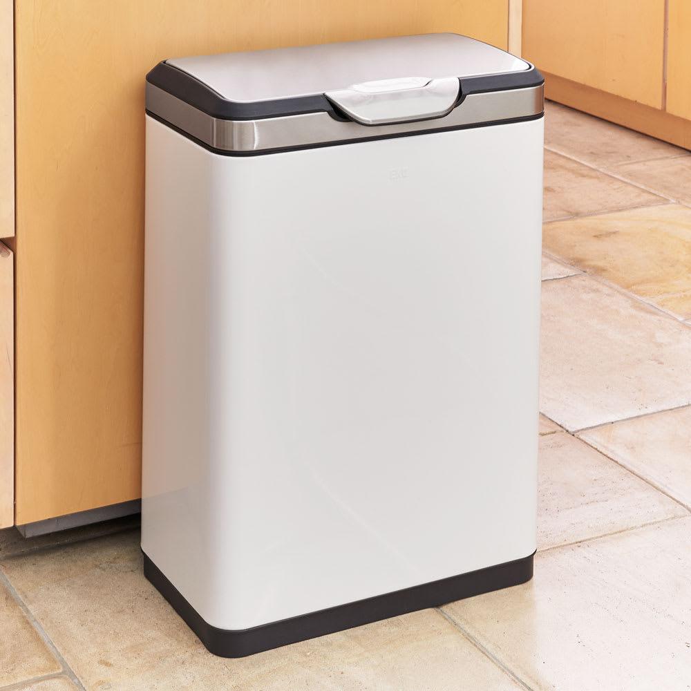 インテリア雑貨 日用品 掃除用品 ゴミ箱 キッチン用ゴミ箱 EKO 30Lダストボックス (横型タッチビン ホワイト) 517401