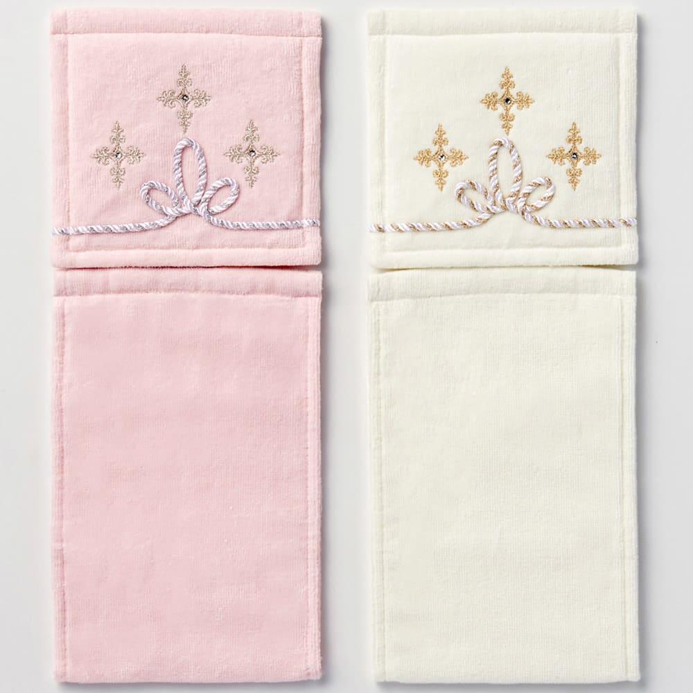 〈ニーナス〉ペーパーホルダー 左から(イ)ピンク (ア)ホワイト