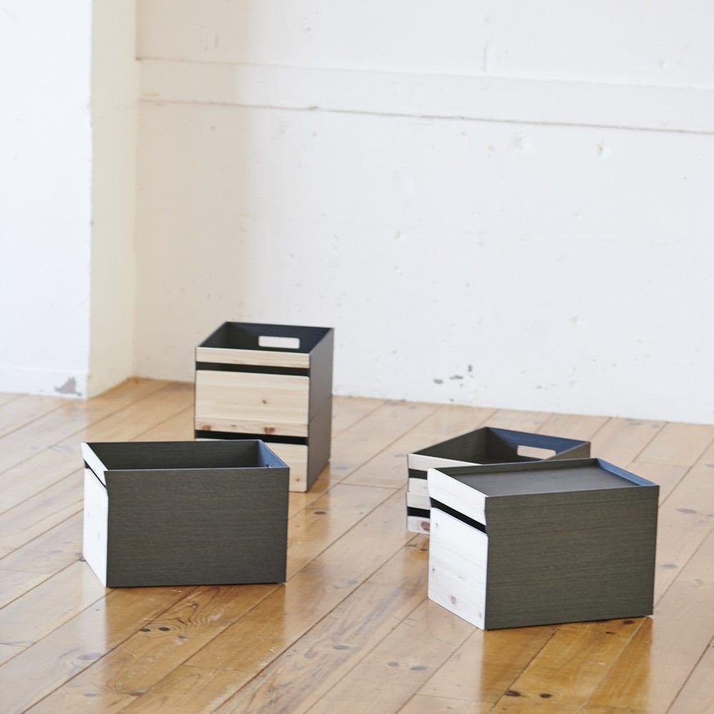 Hinoki+(ヒノキプラス)スタッキング収納ボックス Lサイズ1個 イメージ