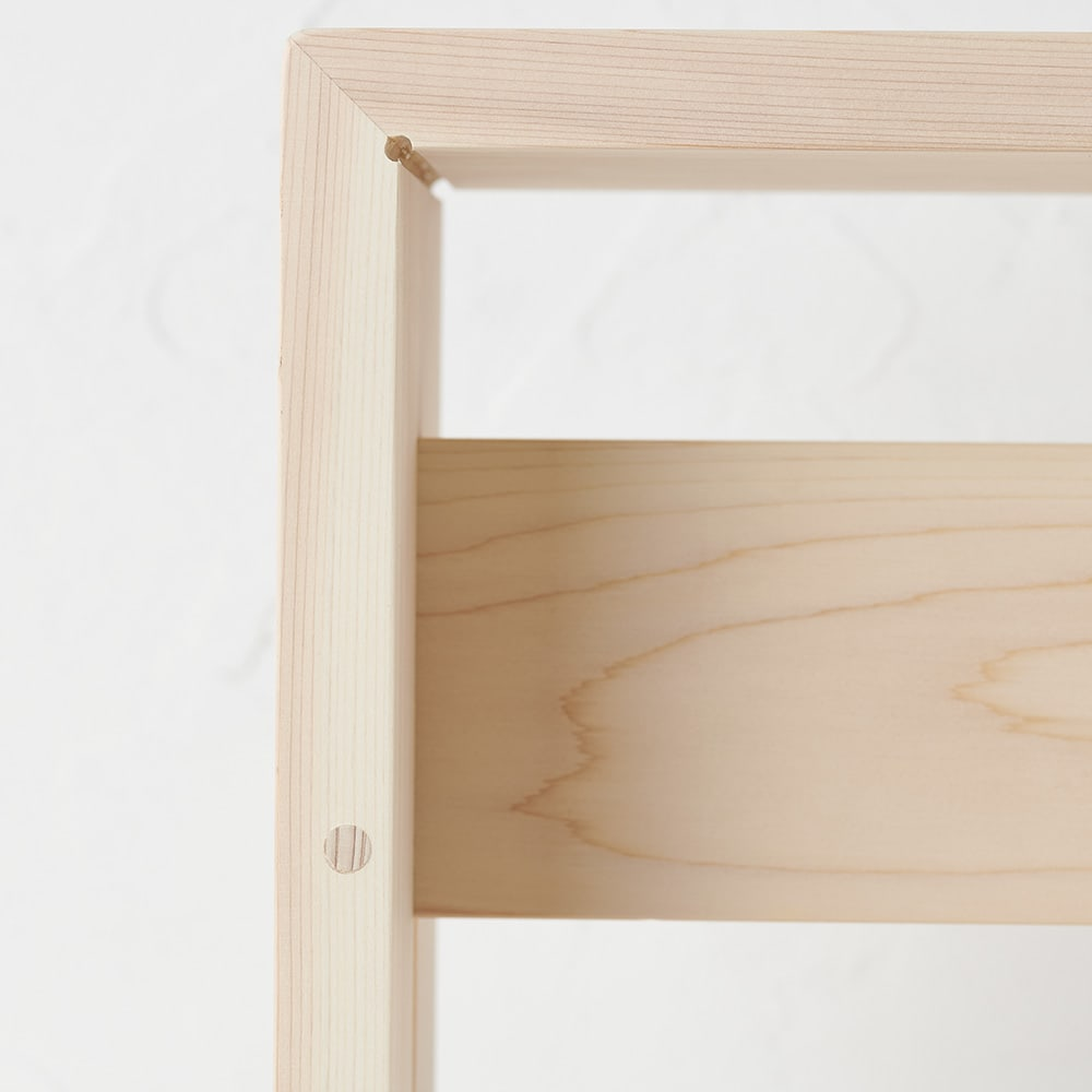 ambai(アンバイ) 風呂道具シリーズ 風呂椅子 大(ハイタイプ) 「蟻組」という溝を掘って差し込む貫構造を採用し、強度もアップ