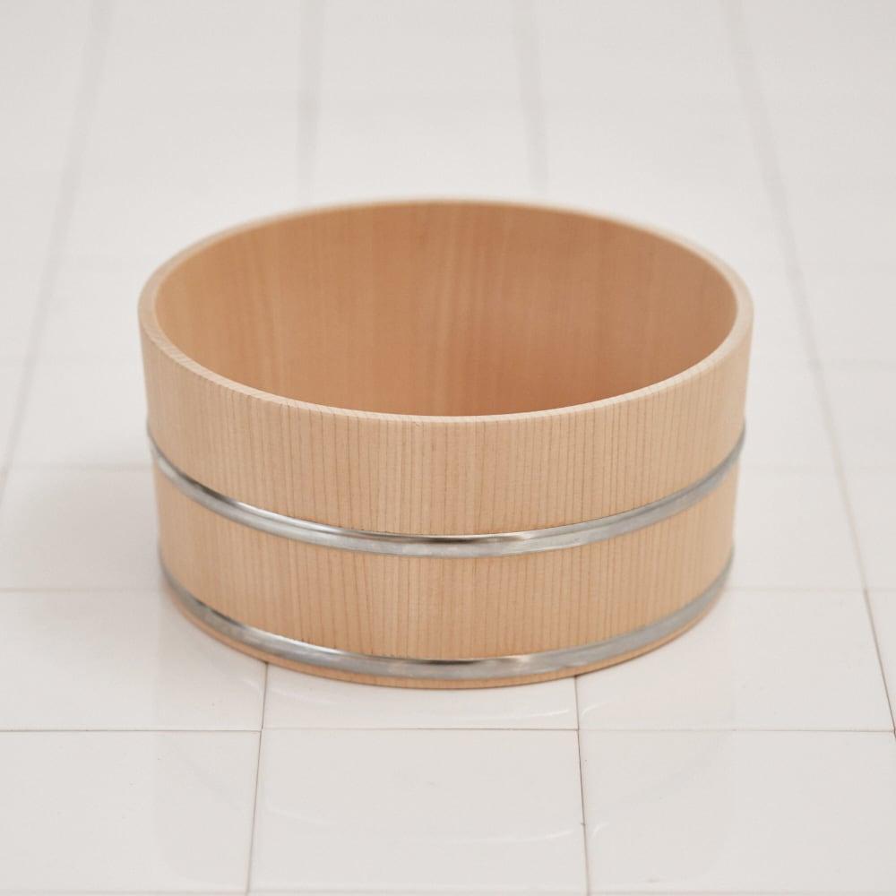 ambai(アンバイ) 風呂道具シリーズ 木曽産さわらの湯桶(風呂桶) ベージュ お風呂グッズ・バス用品