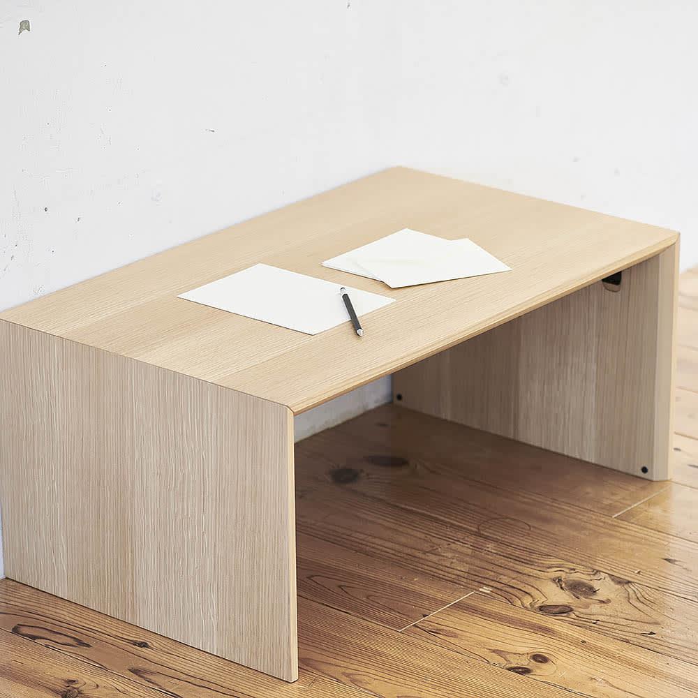 Slim すっきり折りたたみ可能なデスク 幅75cm シンプルで高級感あるデザインは、和室にも洋室にも合います。
