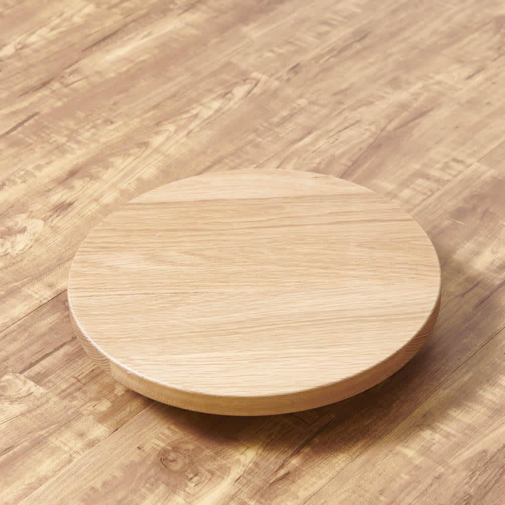 キャスター付きプランターベース ホワイトオーク 直径24cm どんなインテリアとも相性のいいホワイトオーク天然木