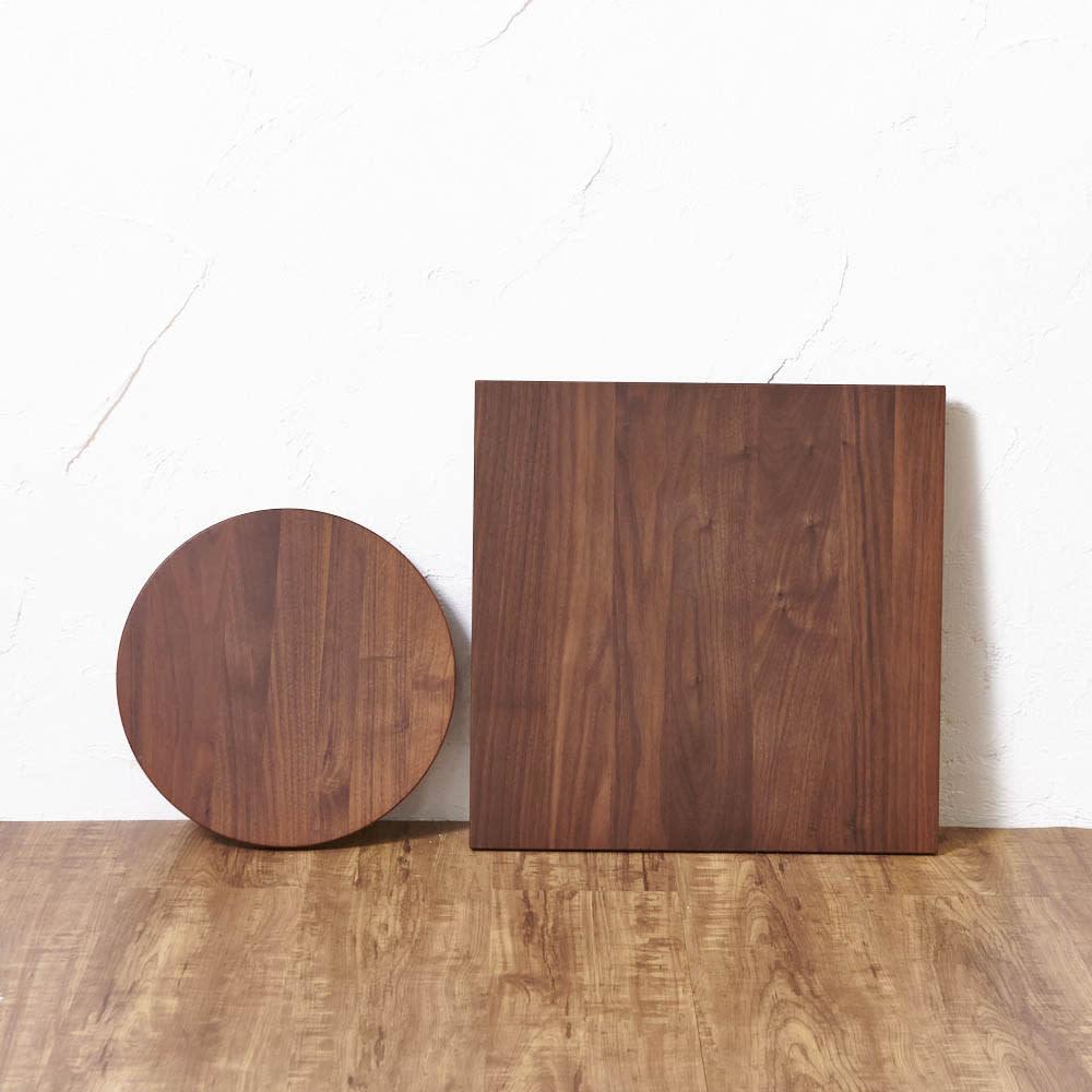 キャスター付きプランターベース ウォールナット 角40cm ※お届けは写真右の40cmの角型タイプになります。写真左は丸型24cmタイプ。