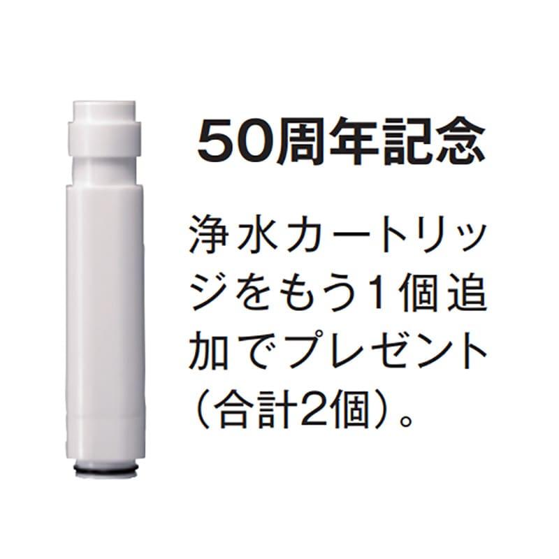 浄水ファインバブルシャワー セット(浄水カートリッジ2個付き) 50周年を記念して1個追加でプレゼント。(合計2個、内1個はシャワーヘッドに内蔵しています) 交換もとても簡単です