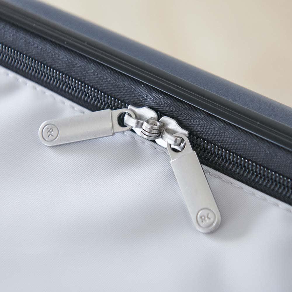 ROLLINK 薄くたためるスーツケース容量40L/機内持ち込みサイズ ファスナー部